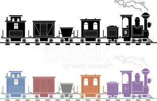Trem Da Estrada DE Ferro imagens vetoriais.