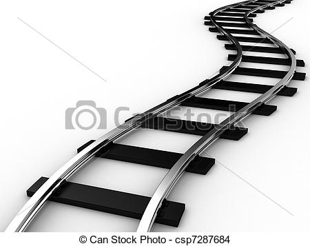 Desenho de estrada ferro.