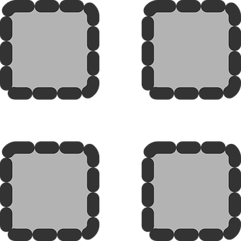 Grey, Square.