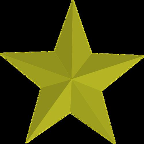 Imagem vetorial de estrela dourada.