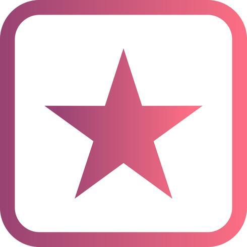 Ícone de vetor de estrela.