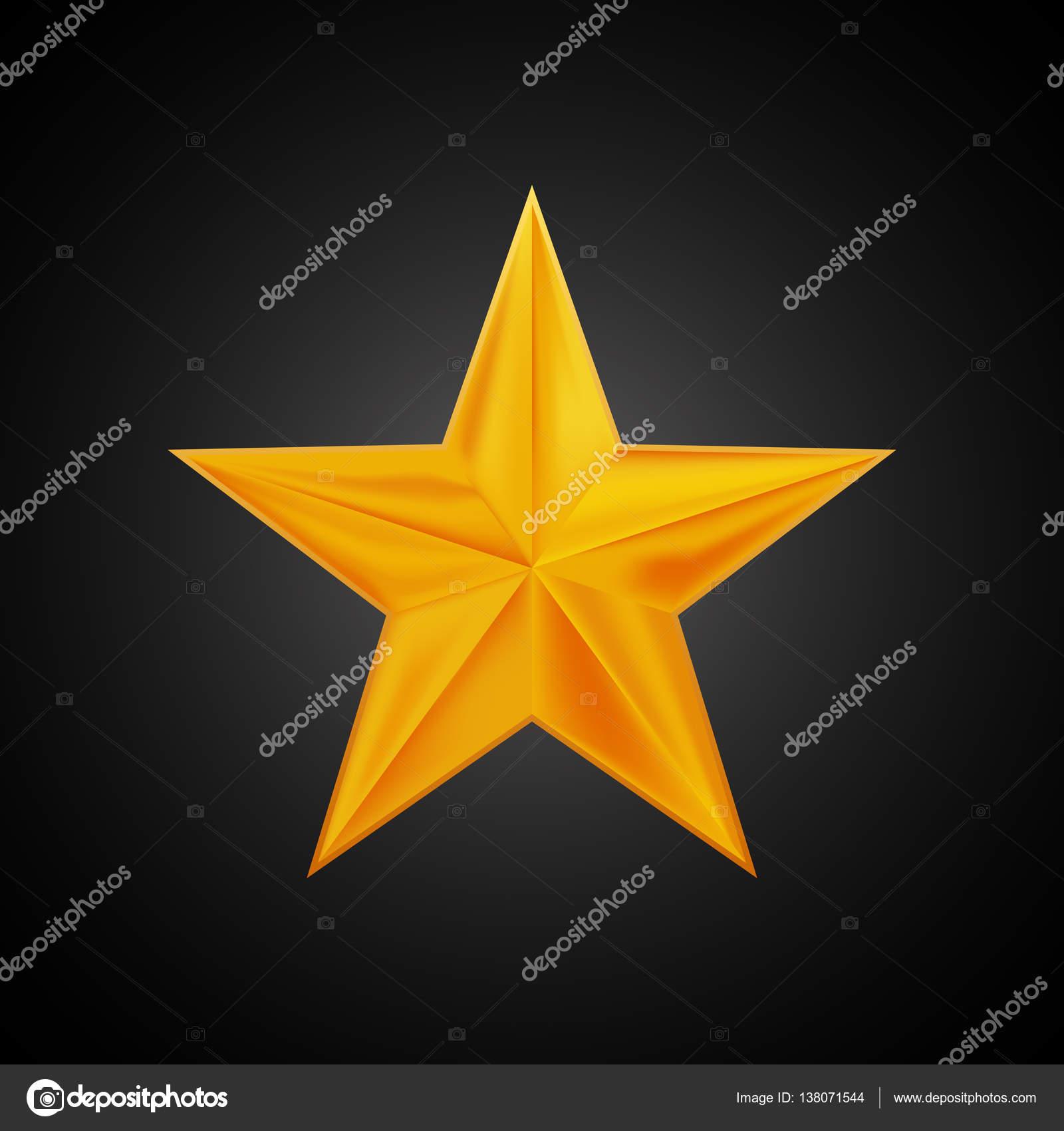 Logo estrela dourada para seu projeto, mão desenho ilustração.