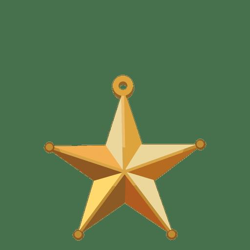 Estrela dourada.