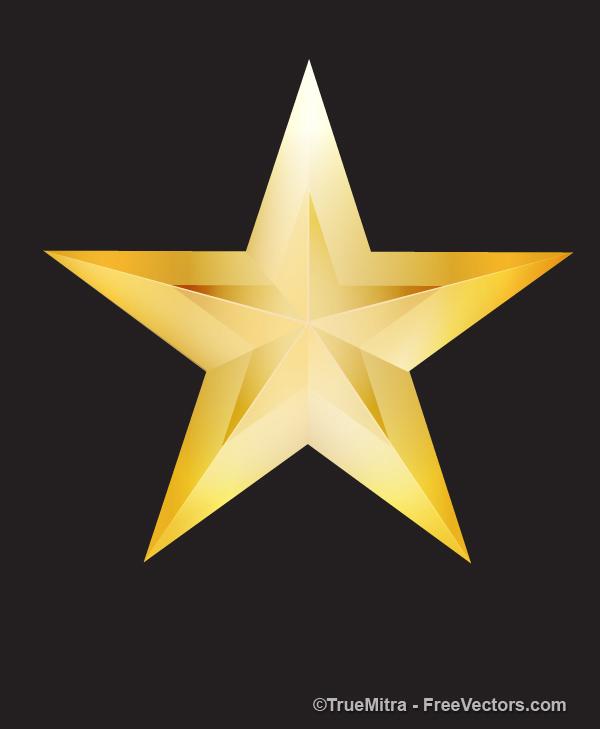 Brilhante estrela dourada cartão.