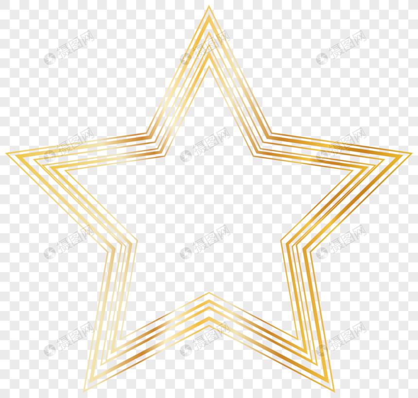 estrela dourada de cinco pontas Imagem Grátis_Gráficos Número.