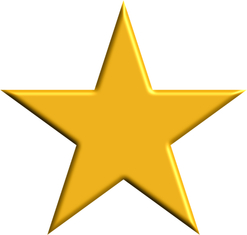 Estrela dourada 3d png 1 » PNG Image.