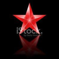 Estrela Vermelha Em Fundo Preto imagens vetoriais.