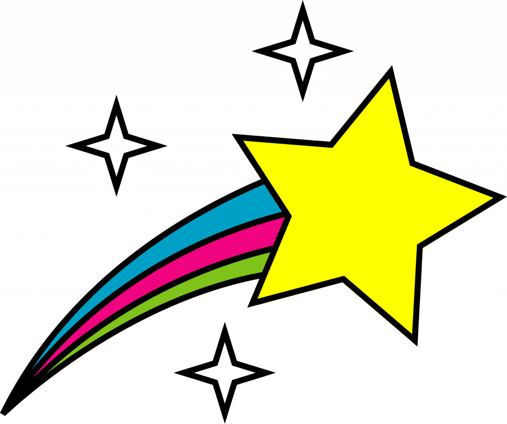 Image result for shooting star clipart.