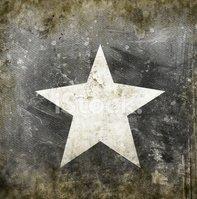 Estrella Blanca Sobre Fondo Grunge vectores en stock.