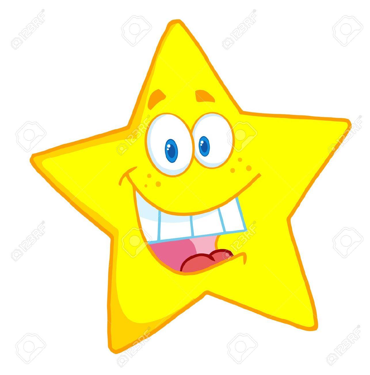 Cute star clipart vector.