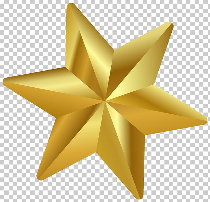 Estrella de Belén adorno navideño, estrella de navidad, oro.