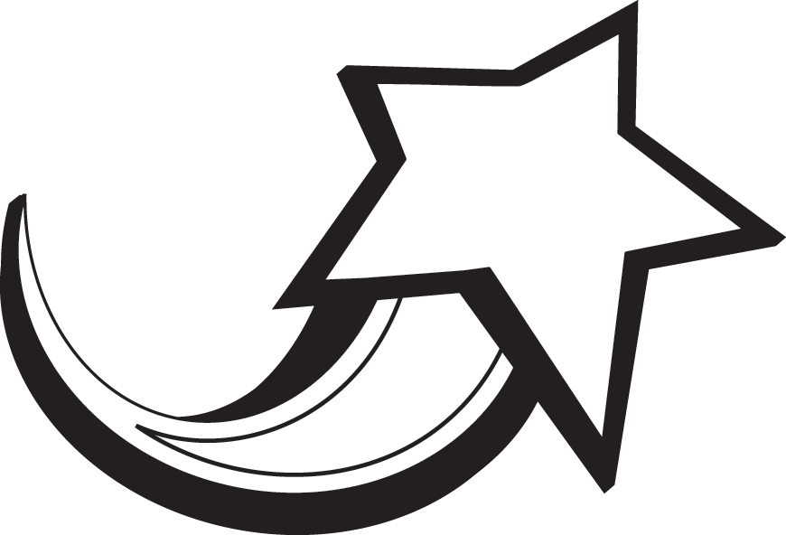 Estrella Fugaz Blanca y Negra Clipart PNG transparente.