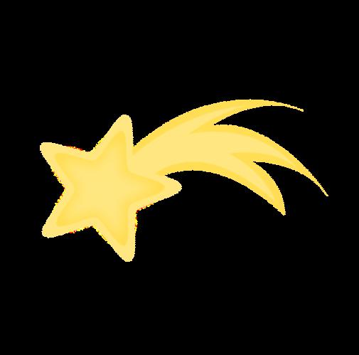 Shooting Star esquema Clip Art.