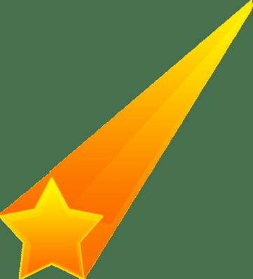 Estrella Fugaz Naranja PNG transparente.