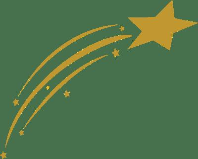 Estrella Fugaz Dorada PNG transparente.
