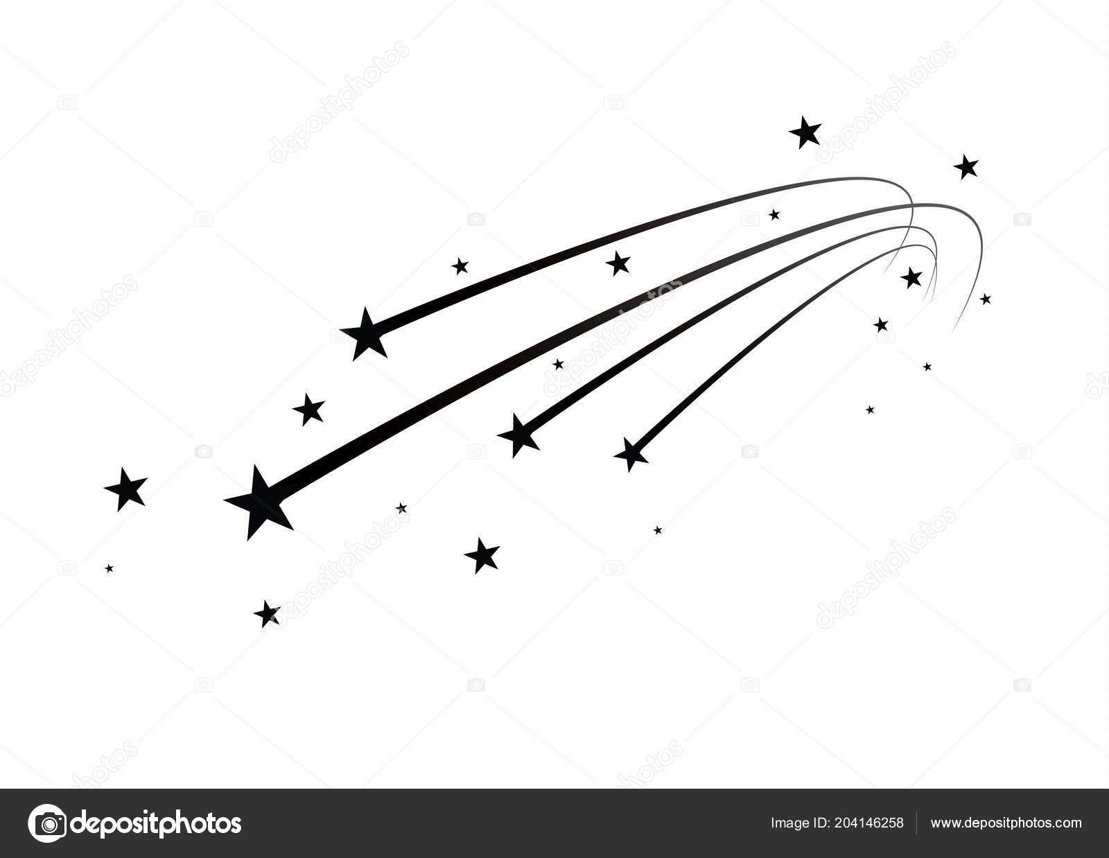Vector: estrella fugaz png.