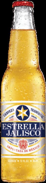 estrella jalisco beer bottle PNG image with transparent.