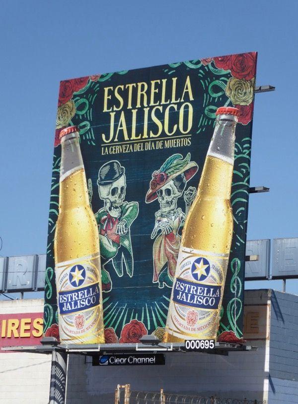 Estrella Jalisco Dia de Muertos beer billboard.