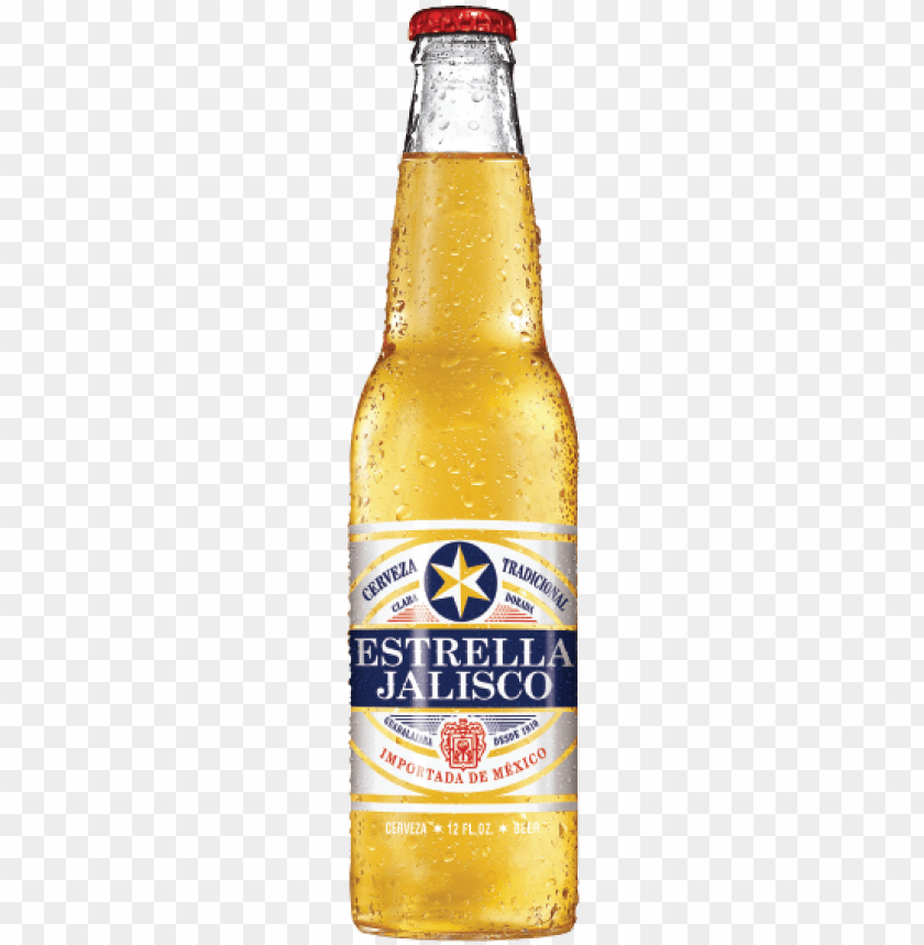 estrella jalisco beer bottle PNG image with transparent.