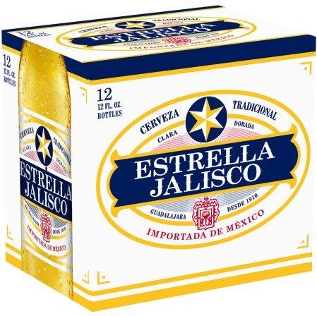 Estrella Jalisco Cerveza 12pk 12oz Bottles.