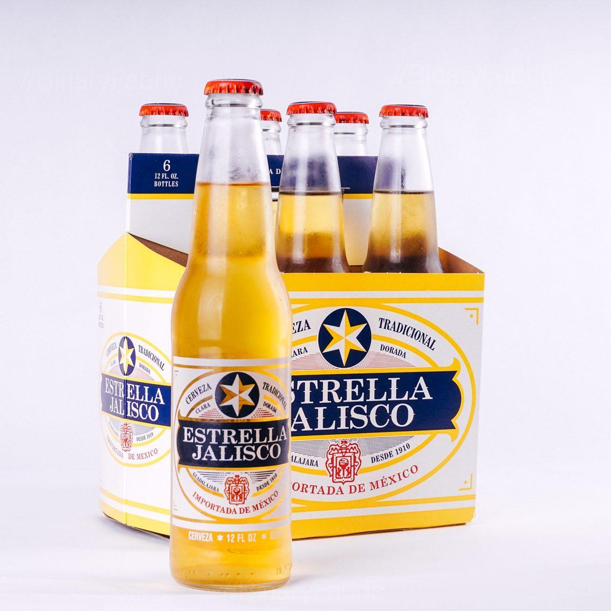 Estrella Jalisco, 6 pack 12oz Bottle.