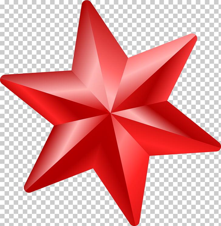 Estrella roja y roja PNG Clipart.
