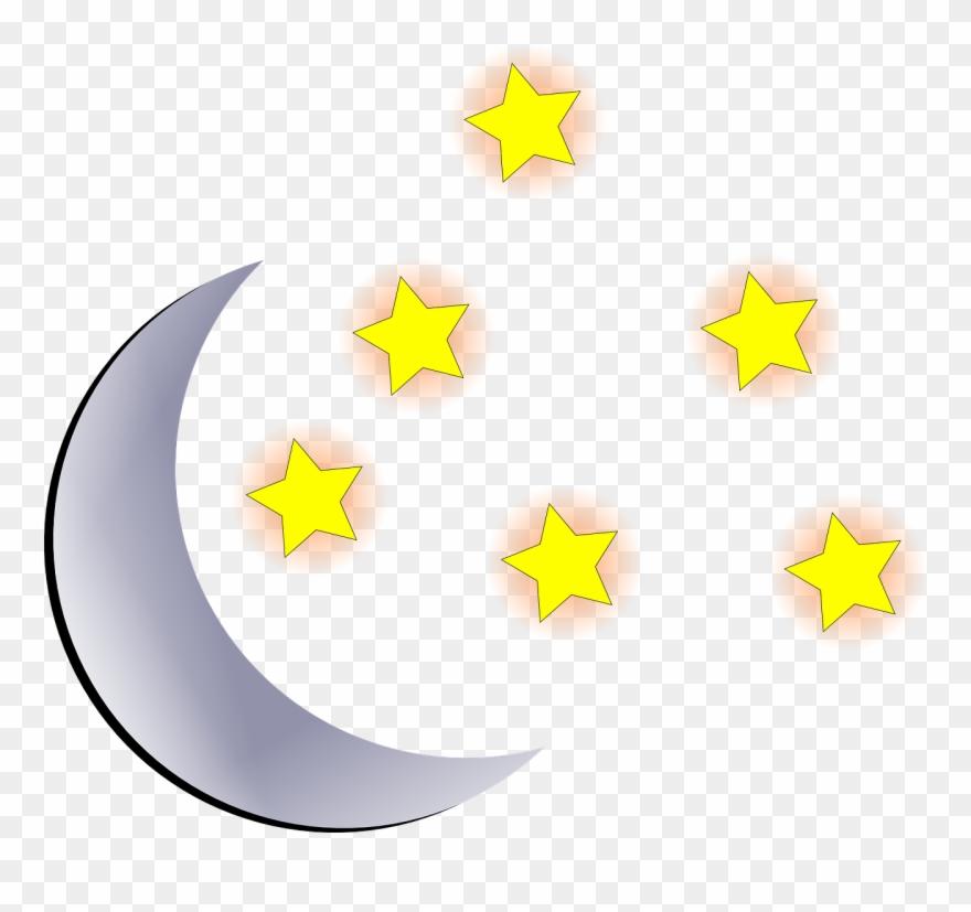 Luna Con Estrellas Animadas Clipart (#166154).