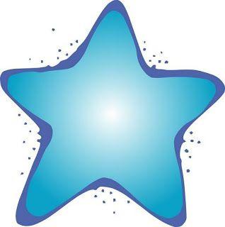 Estrellas de colores para imprimir.