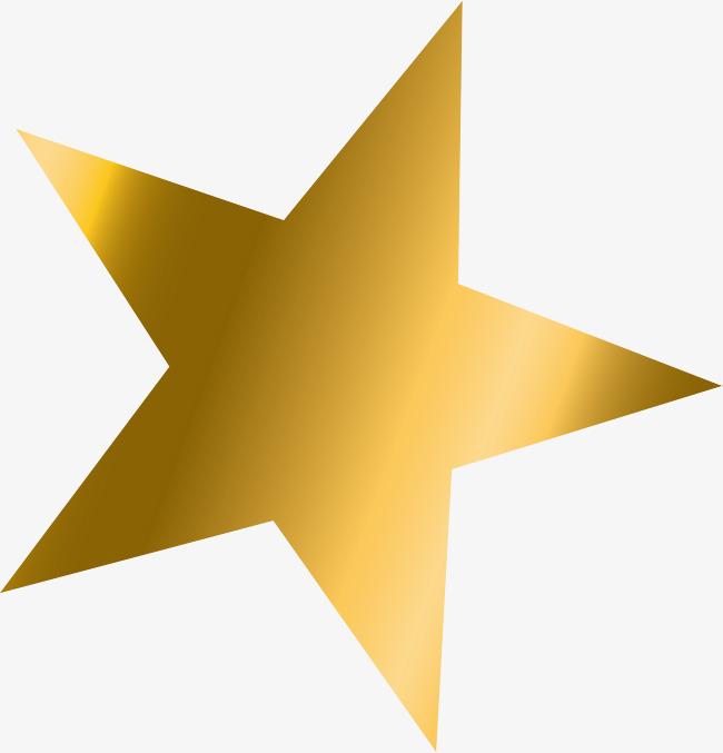 Estrella de oro degradado simple PNG Clipart.