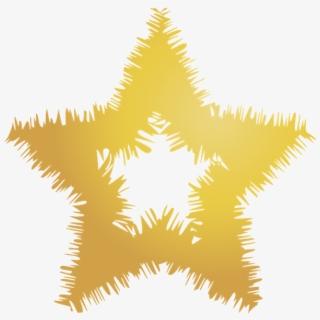 Transparent Estrella Dorada Png.