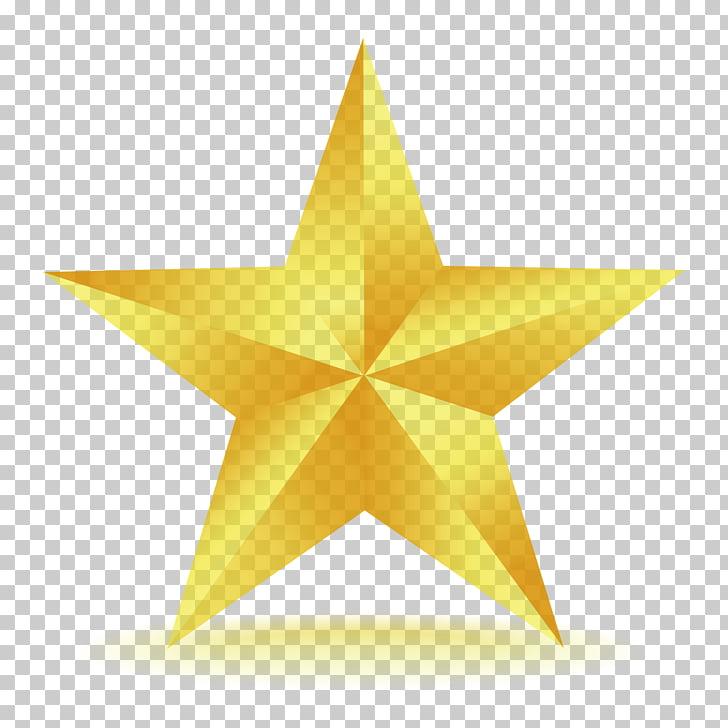 Estrellas doradas PNG Clipart.
