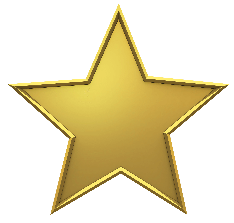 Hollywood Estrella Dorada PNG transparente.