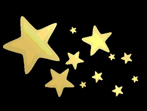 Lluvia de estrellas doradas png 2 » PNG Image.