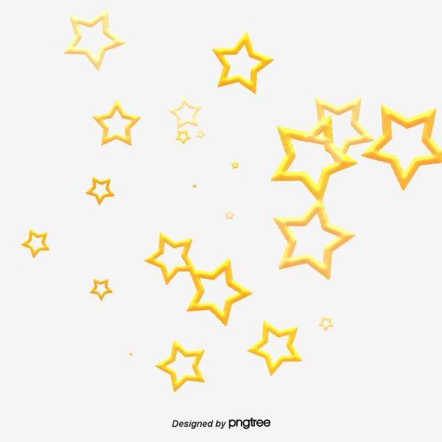 Estrella Cúbica Dorada De Kairouseki, Elemento, Estrellas, Cubo.