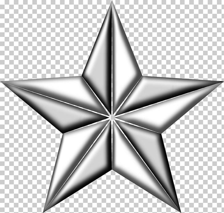 Estrella de plata, 5 estrellas PNG Clipart.