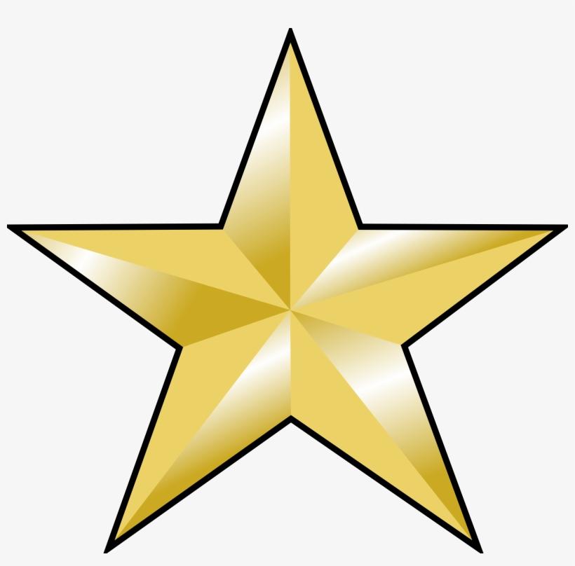 Estrellas Doradas Vector Png.