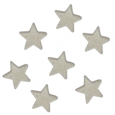 Estrellas de azúcar plata Funcakes.