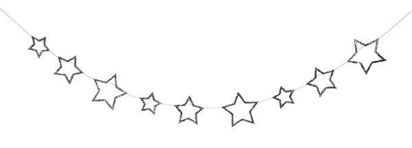 Guirnalda de Estrellas Glitter Plateado.