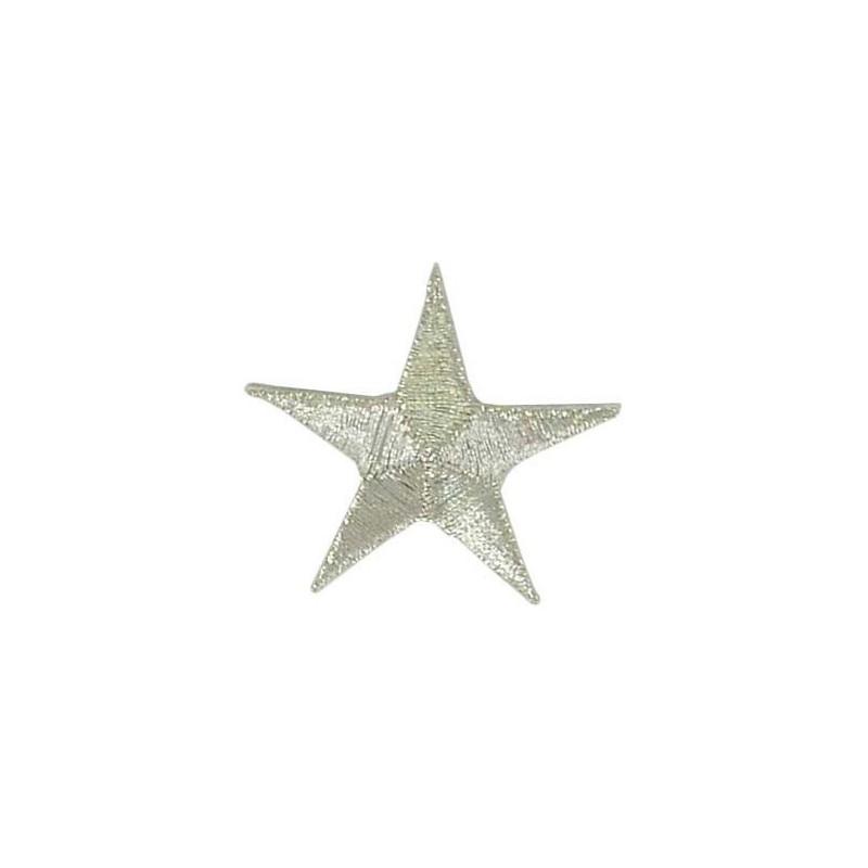 Aplique estrella plateada 4 cm x 4 cm.