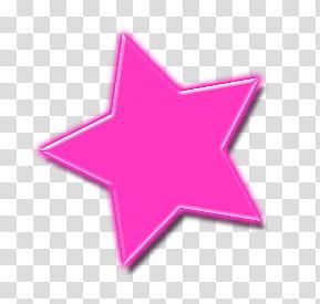 ESTRELLAS, pink star transparent background PNG clipart.