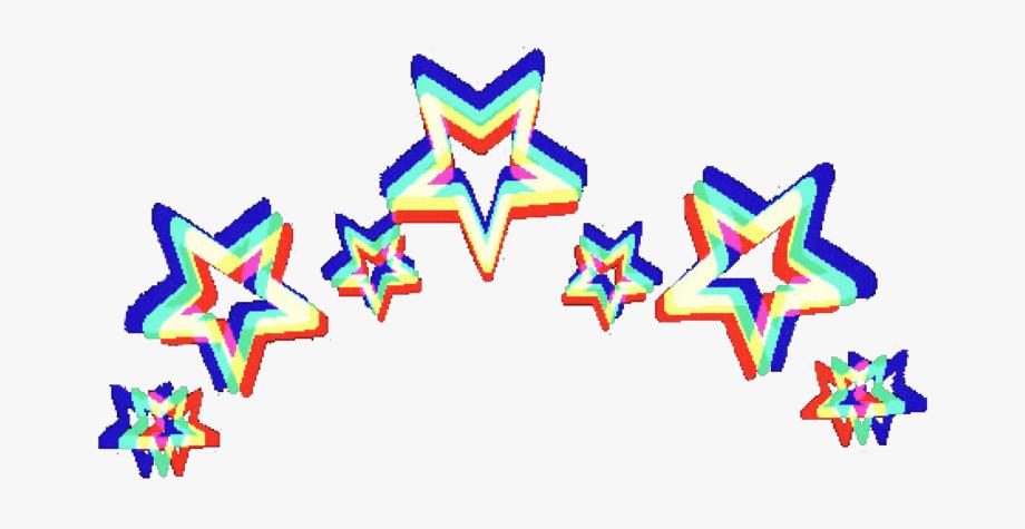 glitch #stars #crown #retro.
