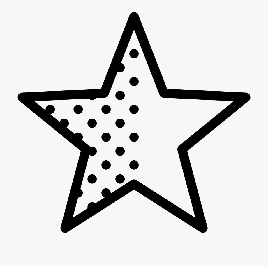 Estrella Vector Negra.
