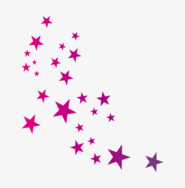 Vector Gradient Shading Stars, Star, Hand Painted Stars, Shading.