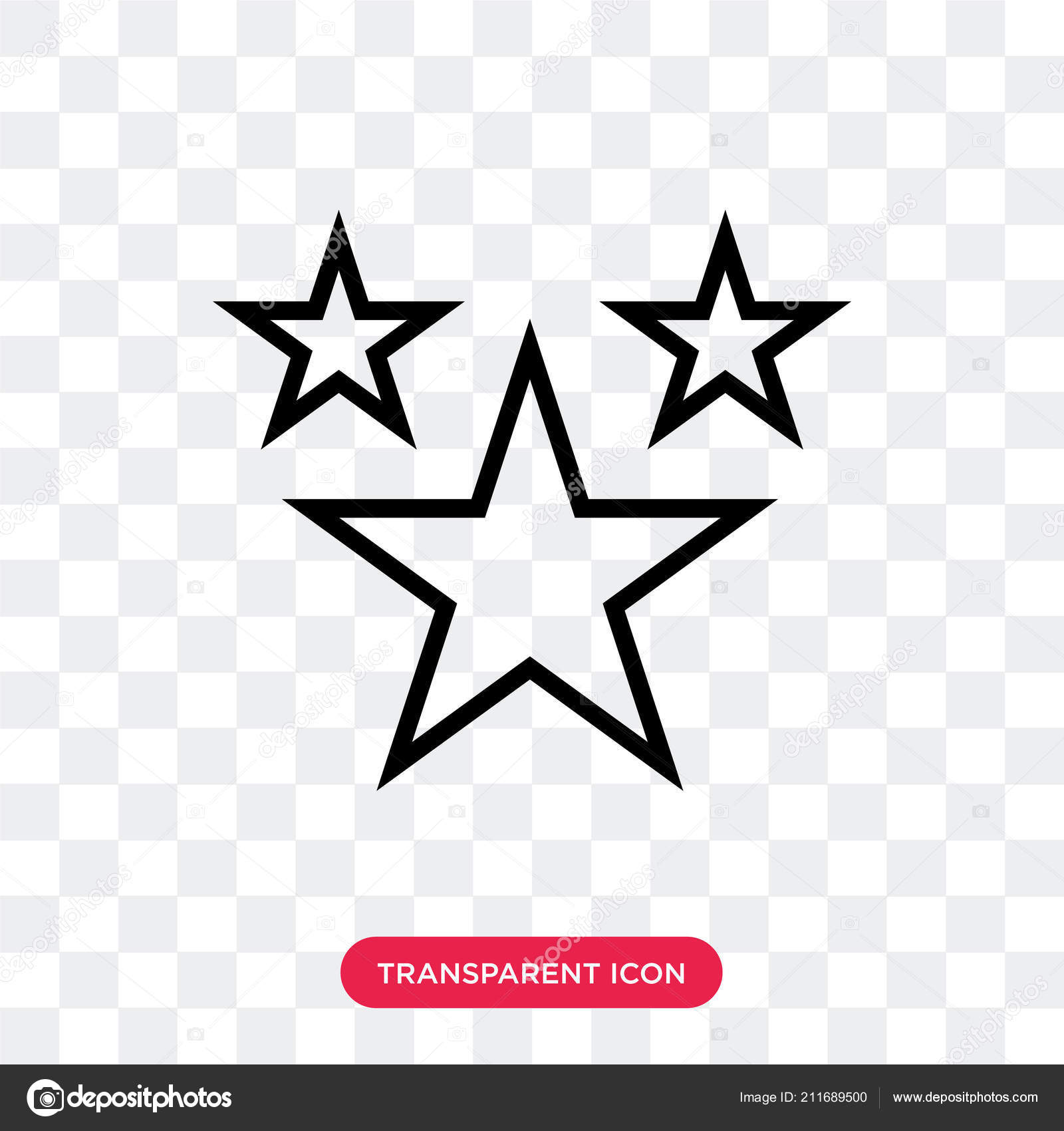 Stars vector icon isolated on transparent background, Stars logo.
