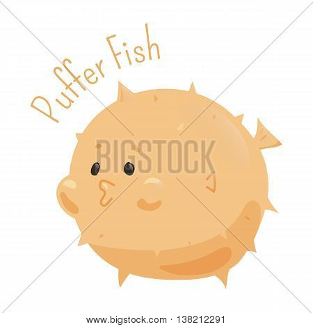 Puffer fish. Tetraodontidae is family marine and estuarine fish of.