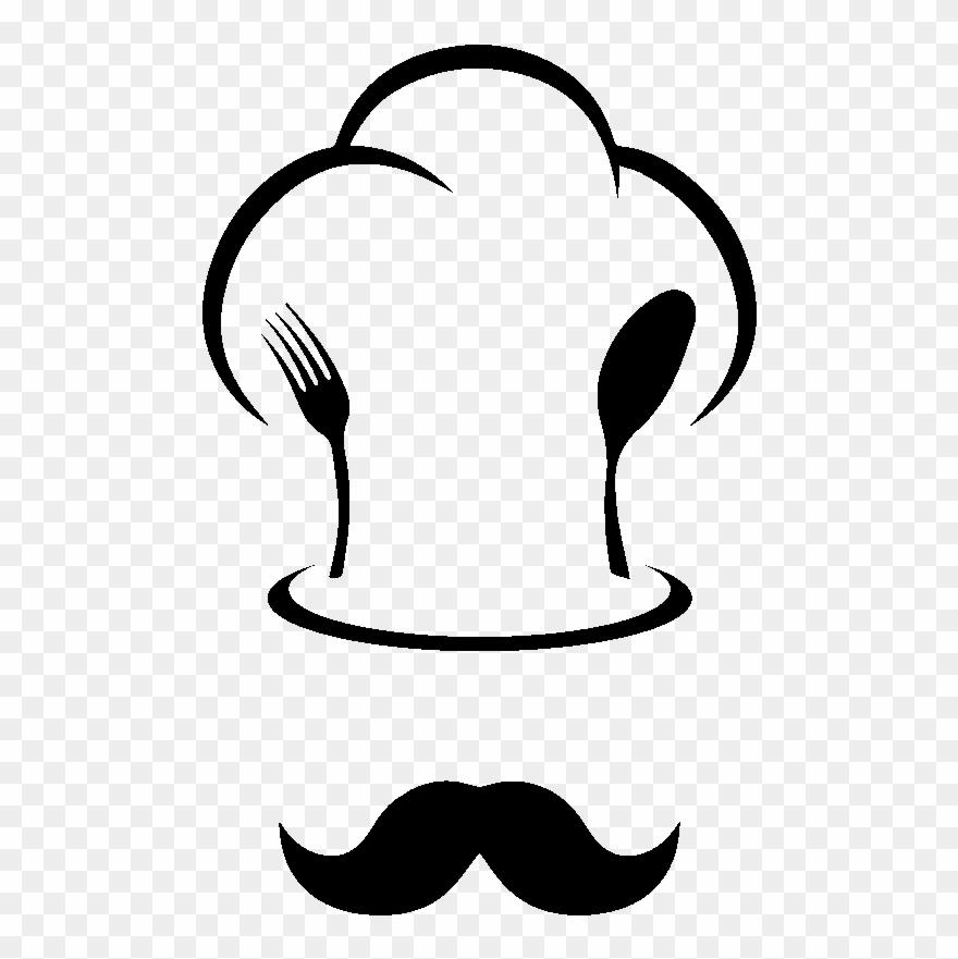 Sticker Toque De Chef Et Moustache Clipart (#2703579).