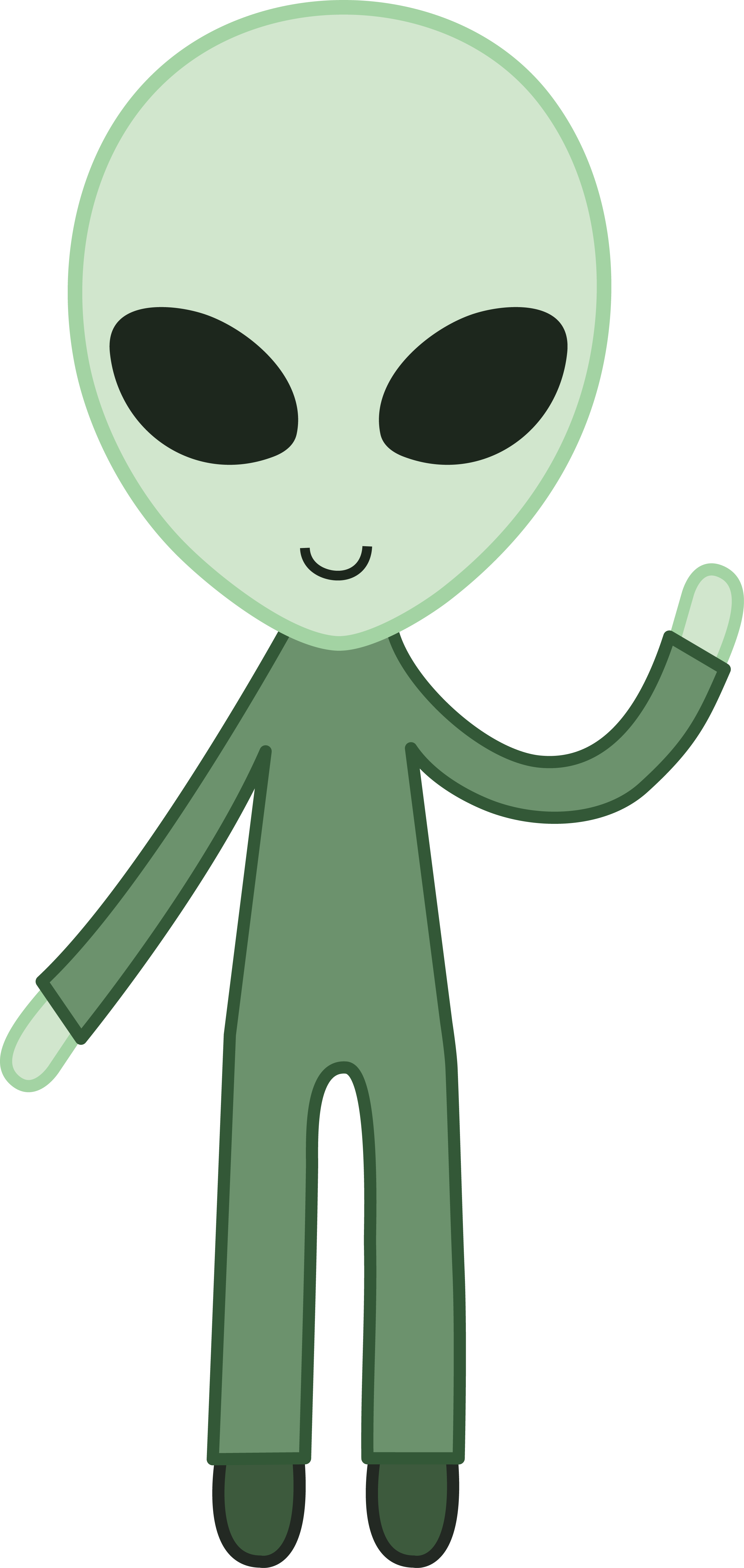 Friendly Green Space Alien.