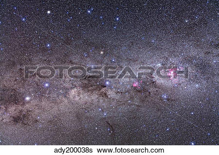 Stock Images of Southern Milky Way with Eta Carinae, Crux and.