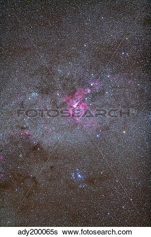 Stock Images of Eta Carinae Nebula area of the southern Milky Way.