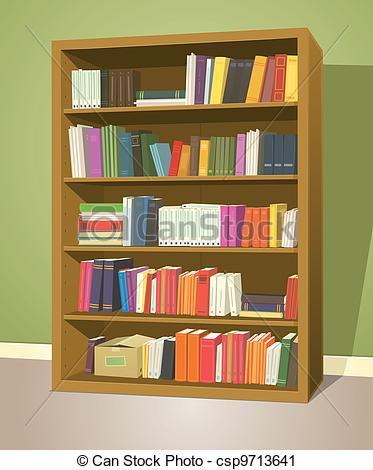 Clip Art Vecteur de Étagère, bibliothèque.